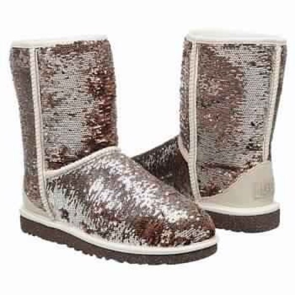 champagne sequin ugg boots